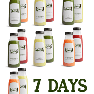 7 days of Juice, 32 oz per day. The Right Greens 678.262.6799 TheRightGreens@gmail.com