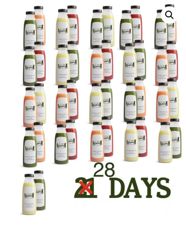 28 days of Juice from The Right Greens 678.262.6799 TheRightGreens@gmail.com