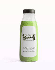 Bright Green Juice from The Right Greens. 678.262.6799 TheRightGreens@gmail.com