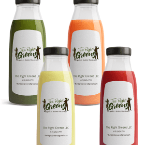 Four Juices from The Right Greens. 678.262.6799 TheRightGreens@gmail.com