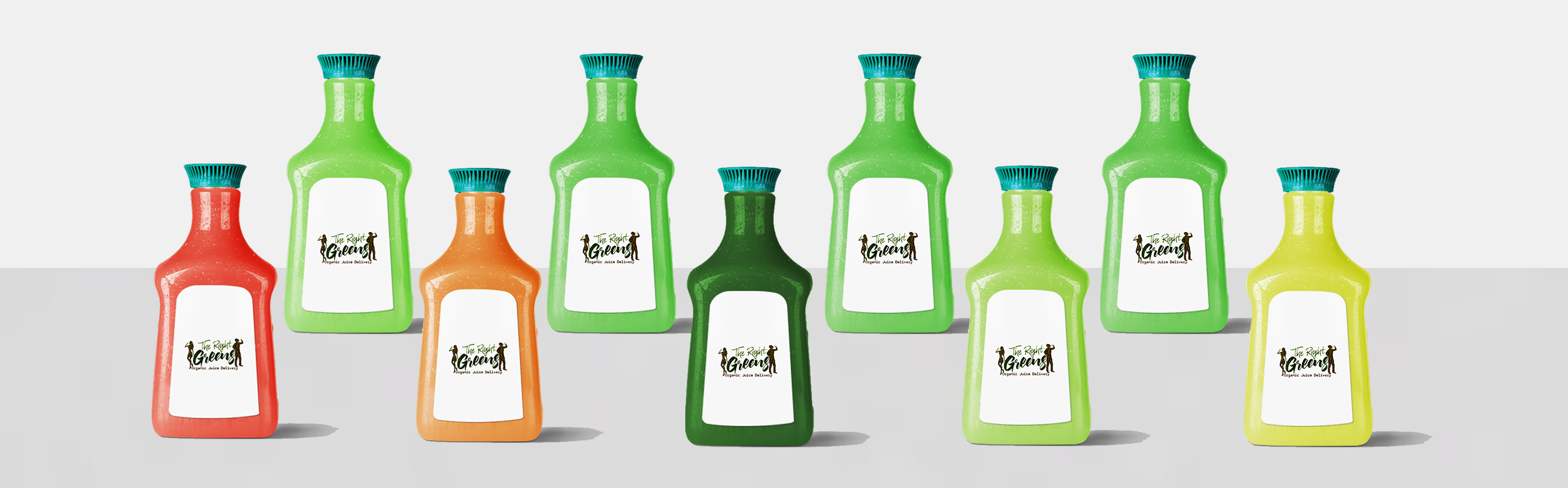 Gallon bottles of juice from The Right Greens. 678.262.6799 TheRightGreens@gmail.com