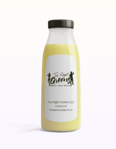 Light Yellow Juice from The Right Greens. 678.262.6799 TheRightGreens@gmail.com