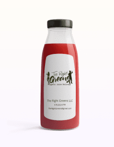 Red Juice from The Right Greens. 678.262.6799 TheRightGreens@gmail.com